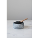 Creative Co-Op Granite Bowl with Carved Wood Spoon (Set of 2)