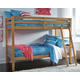 Hallytown Twin over Twin Bunkbed with Ladder