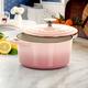 Crock-Pot Artisan 2 Piece 3 Quarts Enamled Cast Iron Dutch Oven in Blush Pink