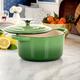 Crock-Pot Artisan 2 Piece 3 Quarts Enameled Cast Iron Dutch Oven in Pistachio Green