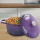 Crock-Pot Artisan 2 Piece 7 Quart Enameled Cast Iron Dutch Oven with Lid in Lavender