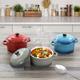 Crock Pot Pembury 3 Piece 9.6 Ounce Stoneware Assorted Casserole Dish Set