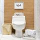 Elegant Designs Inspirational Three Piece Decorative Wood Bathroom Set, Large