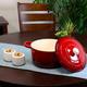 Crock Pot Artisan 7 Quart Round Cast Iron Dutch Oven in Scarlet Red