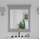 Atwater Living Jazmyne Bathroom Mirror, 30 Inch, Gray