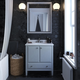 Atwater Living Brinley 30 Inch Bathroom Vanity with Sink, Gray