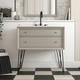 Atwater Living Agnes 36 Inch Floating Bathroom Vanity with Sink, Gray Wood