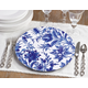 Saro Lifestyle French Style Floral Print Decorative Charger (Set of 4)