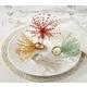 Saro Lifestyle Beaded Spray Design Napkin Ring (Set of 4)