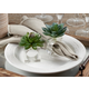 Saro Lifestyle Succulent Design Napkin Ring (Set of 4)