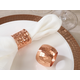 Saro Lifestyle Dinner Napkin Ring with Moscow Mule Design (Set of 4)