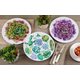 Saro Lifestyle Floral Table Charger with Succulent Flower Design (Set of 4)