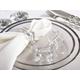 Saro Lifestyle Glass Crystal Octagonal Facet Napkin Ring (Set of 4)