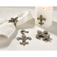 Saro Lifestyle Fleur-de-Lis Design Napkin Ring (Set of 4)