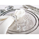 Saro Lifestyle Clear Glass Crystal Square Napkin Ring (Set of 4)