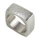 Saro Lifestyle Square Napkin Ring with Hammered Design (Set of 4)