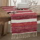 Saro Lifestyle 16x72 Table Runner with Wide Stripe Design