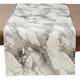 Saro Lifestyle Marble Print Cotton Runner