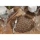 Saro Lifestyle Round Placemat with Laser Cut Design (Set of 4)