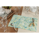 Saro Lifestyle Linen Placemat with Distressed Paisley Design (Set of 4)
