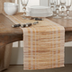 Saro Lifestyle Water Hyacinth Table Runner with Striped Design