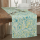Saro Lifestyle Linen Table Runner with Distressed Paisley Design