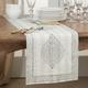 Saro Lifestyle Taj Kantha Stitch 14x72 Table Runner with Block Print