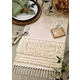 Saro Lifestyle Cotton Table Runner with Knot Appliqué Design