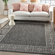 Nourison Country Side 6' x 9' Charcoal Bordered Indoor/Outdoor Rug