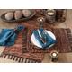 Saro Lifestyle Chindi Design Leather Placemat (Set of 4)