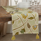 Saro Lifestyle Large Floral Design Embroidered 16x72  Table Runner