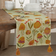 Saro Lifestyle Embroidered Flowers Design 16x72 Table Runner