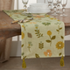 Saro Lifestyle Floral Design Embroidered 16x72 Table Runner