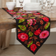 Saro Lifestyle Cotton 16x72 Table Runner with Embroidered Suzani Design