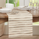 Saro Lifestyle 16x72 Table Runner with Stripe Weave Design