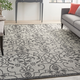Nourison Country Side 6' x 9' Ivory/Charcoal Bordered Indoor/Outdoor Rug