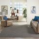 Nourison Positano 6' X 9' Charcoal Brushstroke Indoor/outdoor Rug