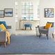 Nourison Positano 6' X 9' Navy Blue Brushstroke Indoor/outdoor Rug