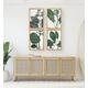 Creative Co-Op Wood Framed Green Botanical Wall Decor (Set of 4 Designs)