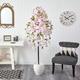 "70"" Cherry Blossom Artificial Tree in White Planter"