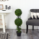 """34"""" Boxwood Double Ball Topiary Artificial Tree (Indoor/Outdoor)"""