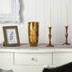 """10"""" Designer Gold Cylinder Vase"""