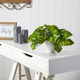 "9"" Pothos Artificial Plant in White Planter (Real Touch)"