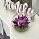 """8"""" Lotus Artificial Arrangement in Glass Vase"""