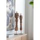 Antique Carved Large Pillar Candle Holder