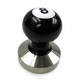 Reg Barber Powder Coat 8 Ball Tamper Handle with Stainless Steel Base