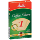 Melitta #1 Natural Cone Coffee Filters - 40 Count