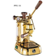 La Pavoni Professional Manual Espresso Machine - Gold Plated Brass - PPG-16