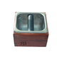 Reg Barber Hardwood Knock Box with Stainless Steel Insert