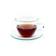 Adagio Teas Glass Cup and Saucer
